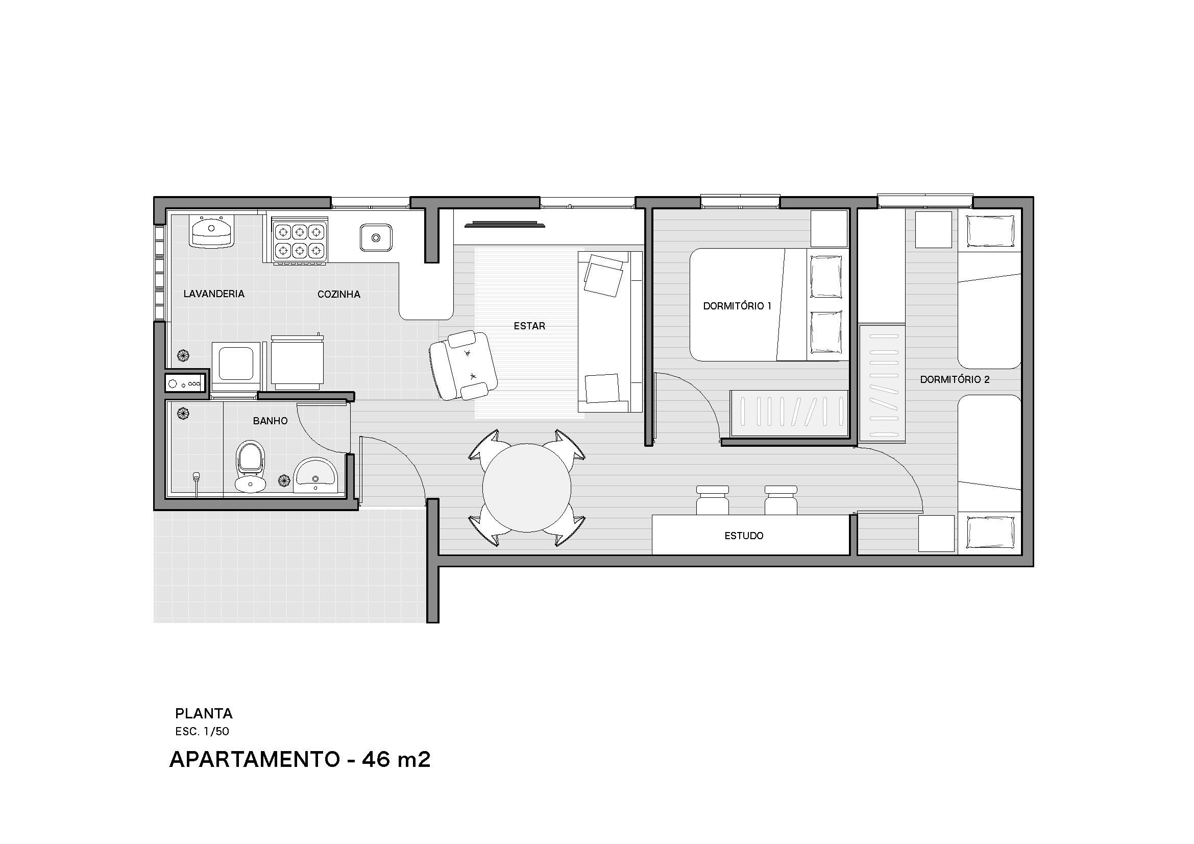 PessoaArquitetos_Sapé_Apto 46m2