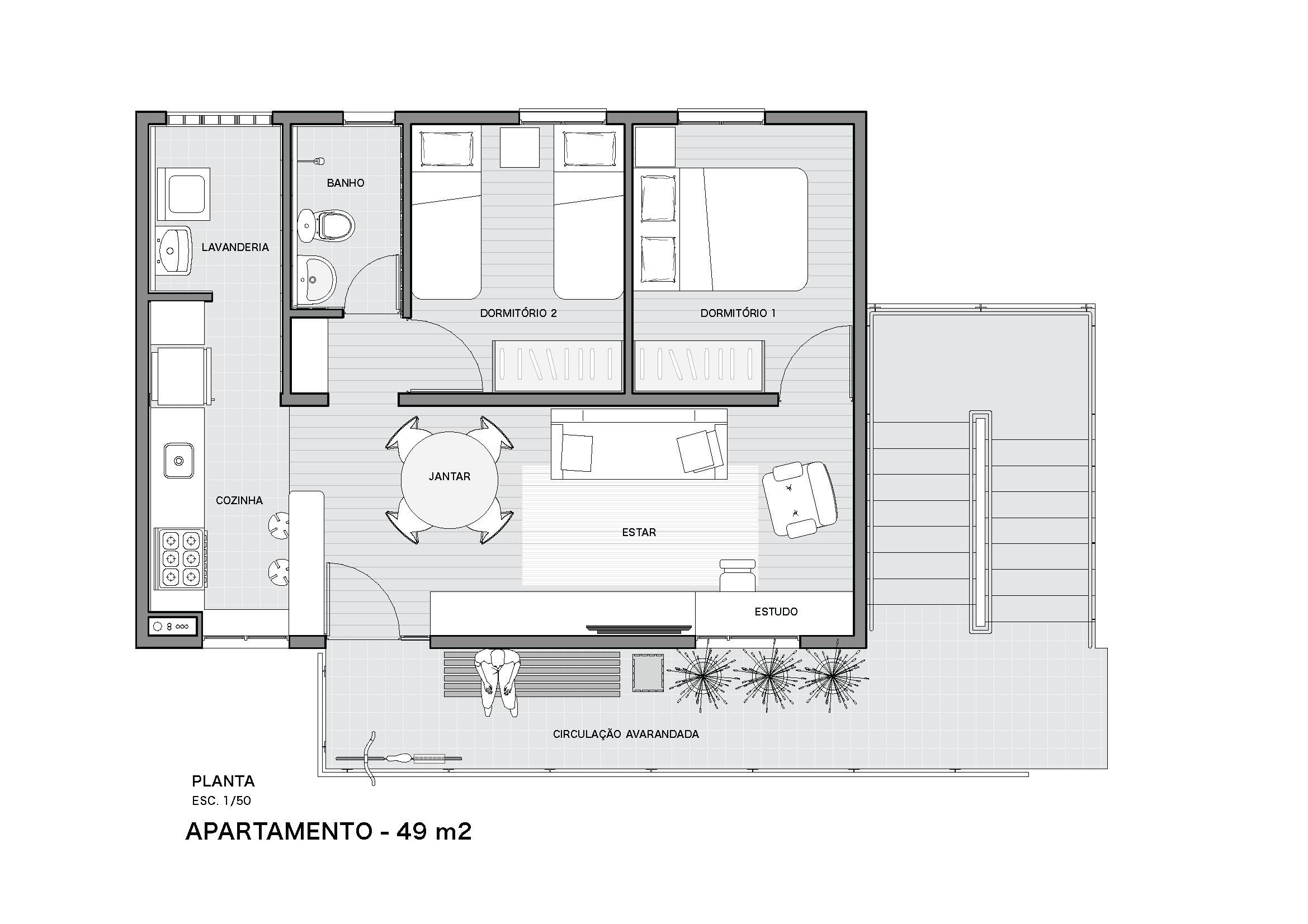 PessoaArquitetos_Sapé_Apto 49m2